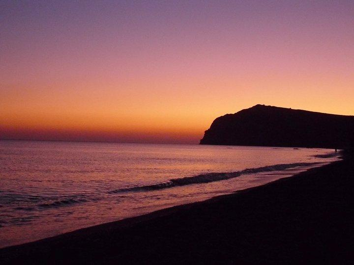 Sunset on Eresos beach
